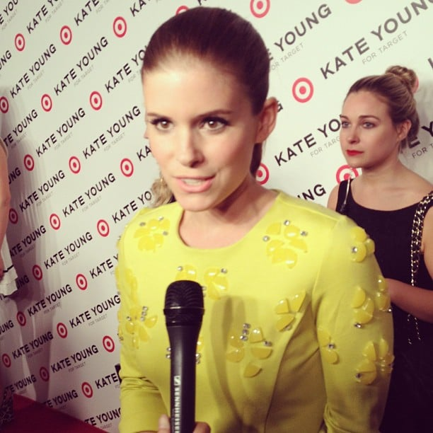 Kate Mara shined in yellow at Target's launch.