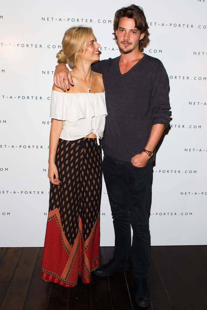 Samara Weaving and Rob Moore hit the Net-A-Porter fashion week cocktail party in Sydney on April 11.