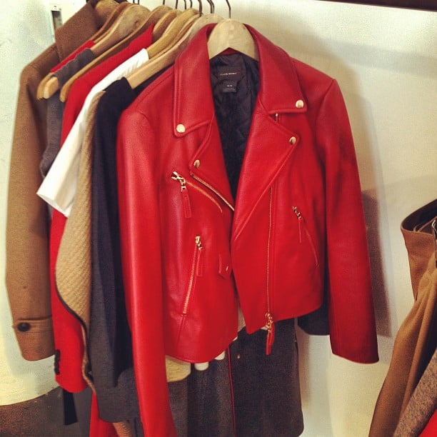We fell in love with this buttery leather moto jacket from Club Monaco.