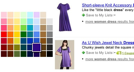 Yahoo Launches New Shop By Color Application