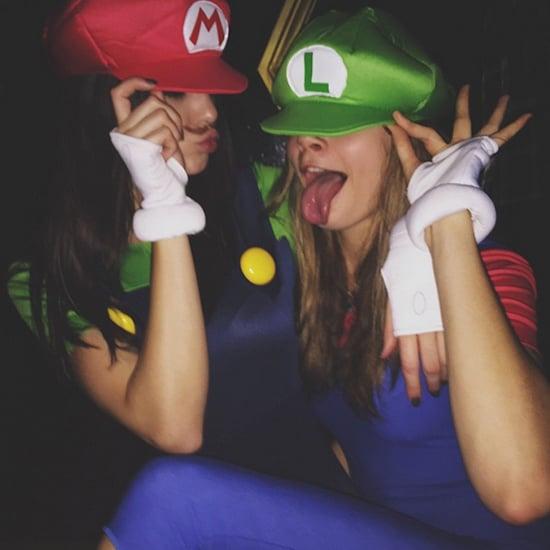 Kendall Jenner and Cara Delevingne Super Mario Bros Costume