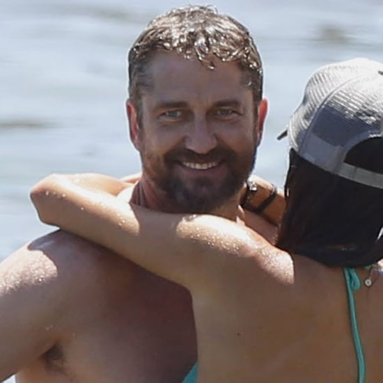 Gerard Butler and Morgan Brown Beach PDA in Malibu | Photos
