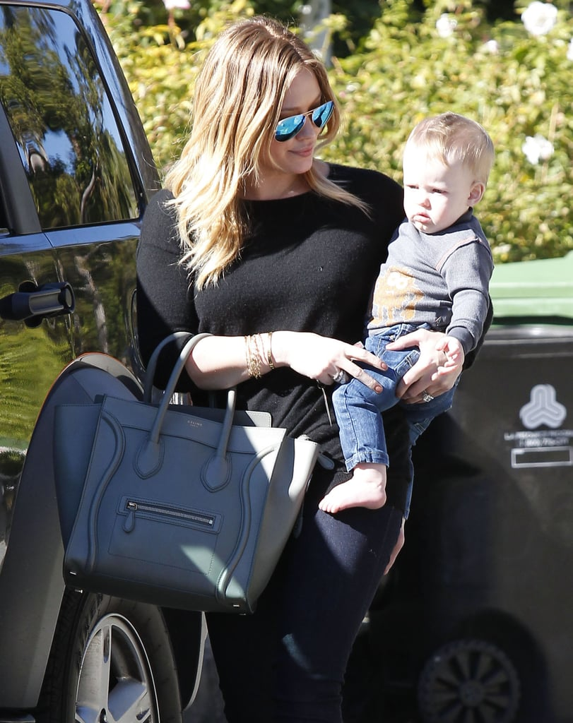 Hilary Duff and baby Luca Comrie had a playdate in Beverly Hills.
