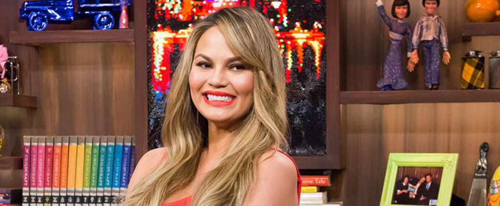 Only Chrissy Teigen Could Pull Off This Dangerously Sexy Dress While Pregnant