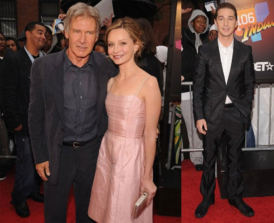 Photos of Shia LaBeouf and Harrison Ford At NYC Indiana Jones Premiere