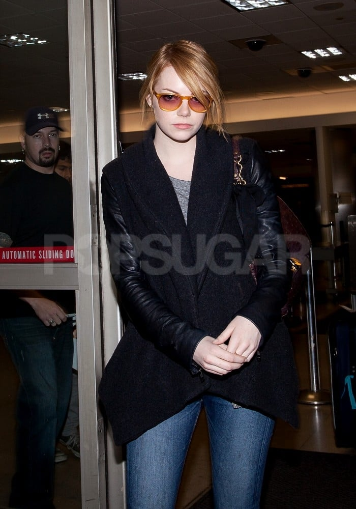 Emma Stone arrived at LAX.