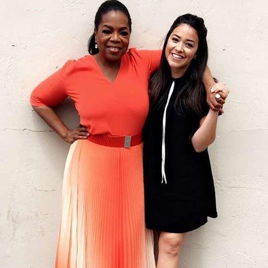 Gina Rodriguez and Oprah Hang Out April 2016