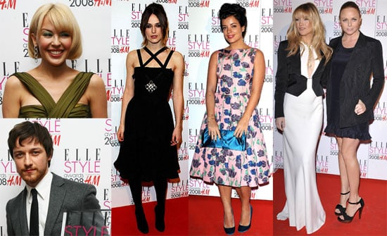 Kate Hudson, Lily Allen, Agyness Deyn at the Elle UK Style Awards in London on February 12, 2008