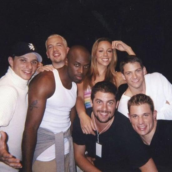 Mariah Carey, 98 Degrees, and Joe Flashback Photo