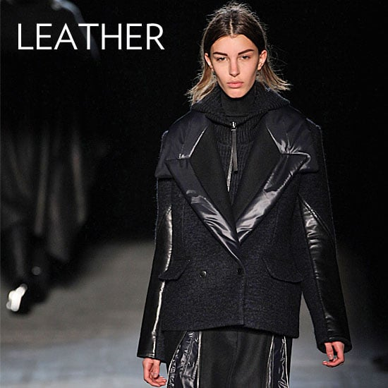 Why we love it: Leather is already a hot topic for Fall, so why not add it to the coat you'll be living in all season? Alexander Wang crafted the most gorgeous coats with slick leather detailing that made us fall in love. How to wear it: There's hardly a thing we wouldn't wear with a leather-trimmed coat. They're both polished and edgy and make your looks infinitely cooler.  Shop the runway: Alexander Wang Reefer Jacket ($745)