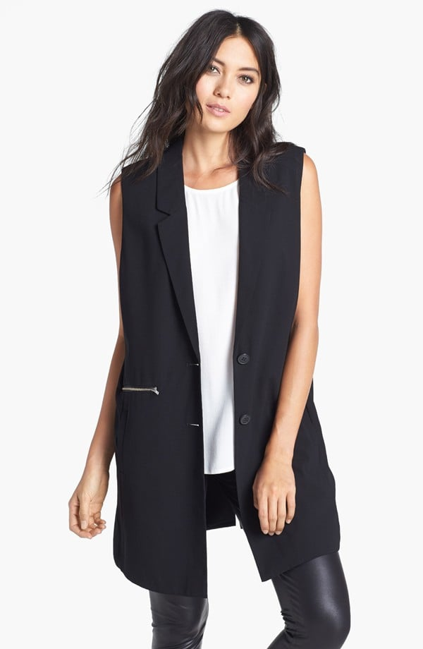 Modernize your workwear with a cool sleeveless blazer, like this Leith Rebellion long vest ($39).