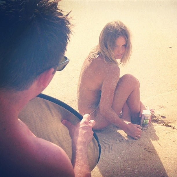 She went topless for a H2COCO Coconut Water campaign shoot in Bali. Source: Instagram user mslbingle