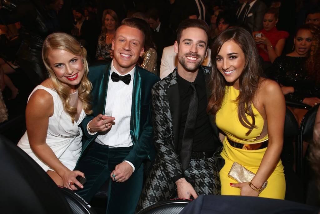Macklemore and Ryan Lewis snapped a pic with their ladies Ricia Davis and Jackie Ganger.