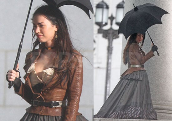 Photos of Megan Fox in Costume on the Set of Jonah Hex in LA