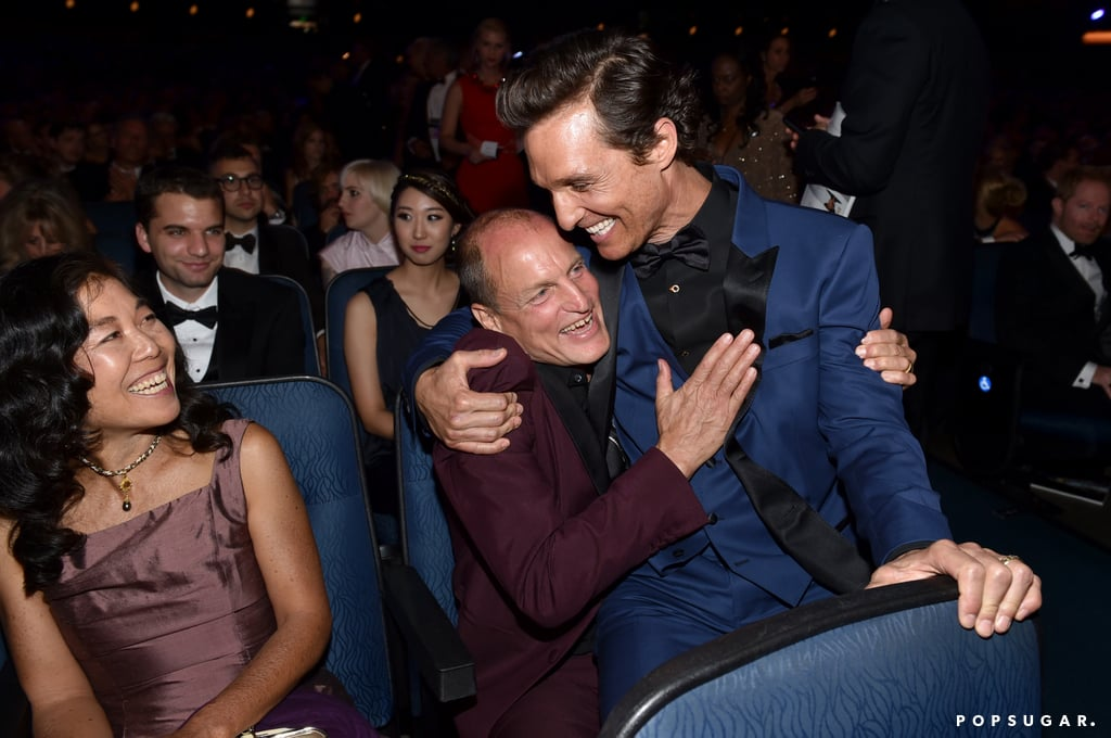 Woody Harrelson and Matthew McConaughey had a bro moment in the audience.