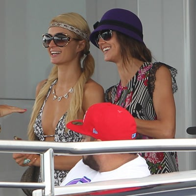 Paris Hilton, Sharni Vinson, Kellan Lutz, Joe Jonas Pictures on a Boat on Sydney Harbour