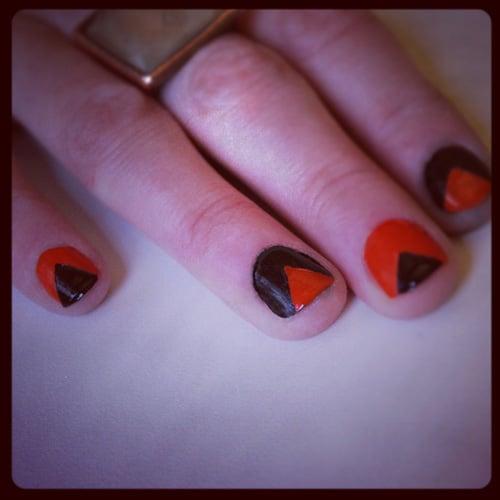 Triangular Nails For Halloween