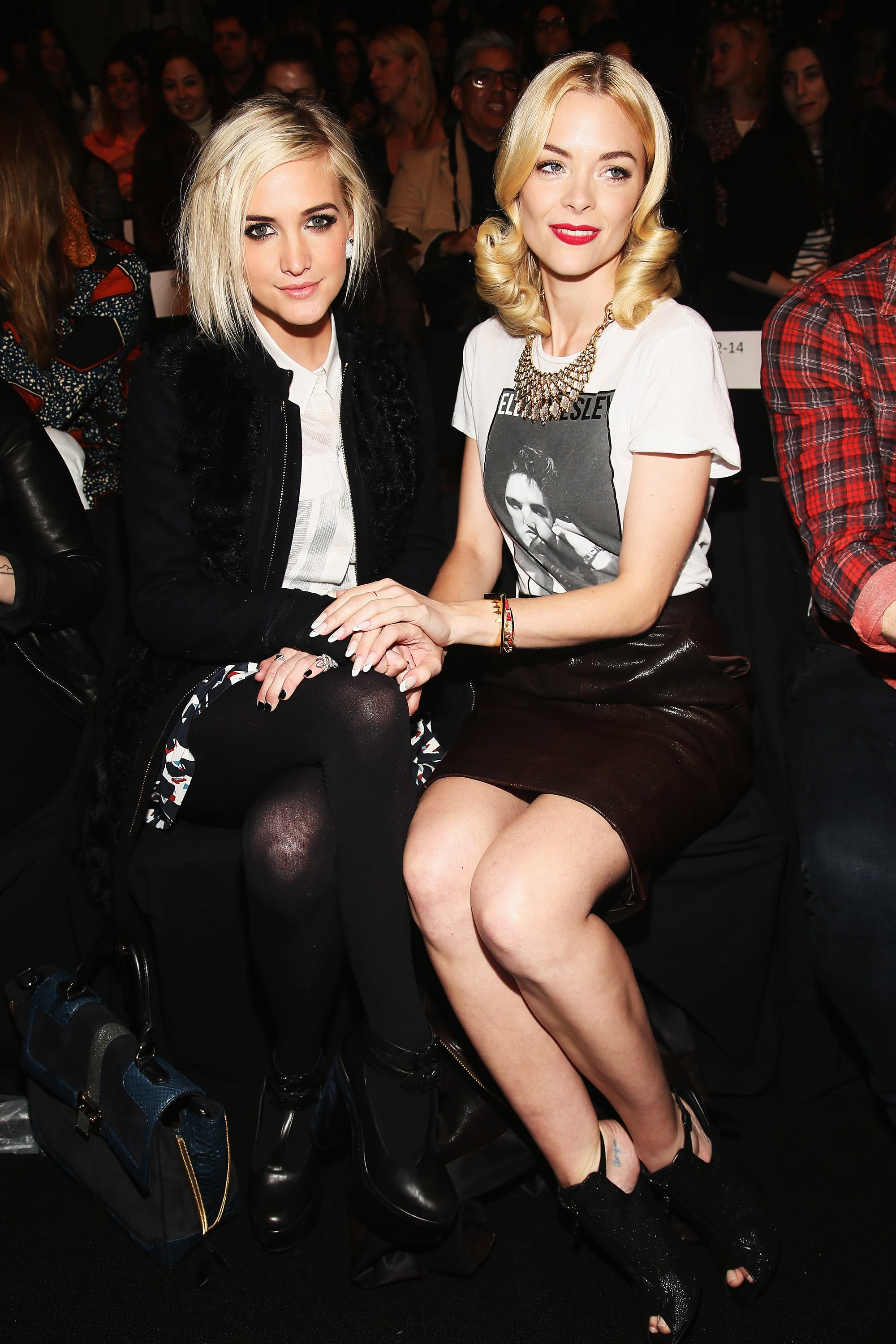 Ashlee Simpson and Jaime King sat front row for Rebecca Minkoff's Fall collection in February 2013.