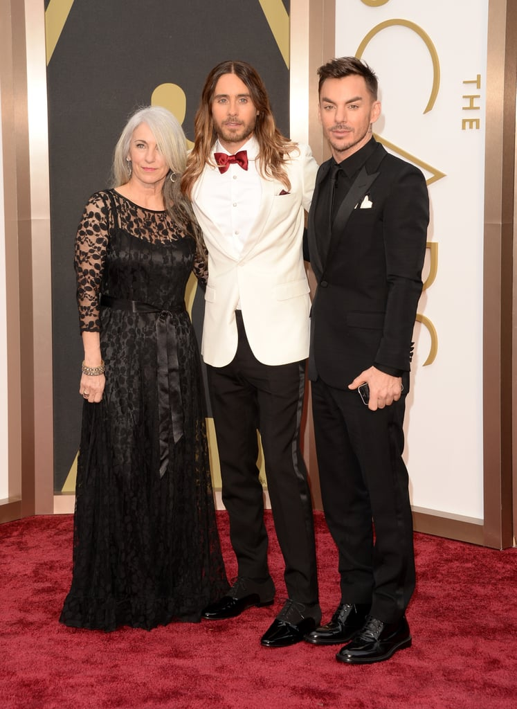 Jared Leto arrived at the Oscars with his mom, Constance, and brother Shannon and thanked them both in his heartwarming acceptance speech after winning best supporting actor.