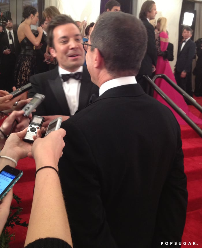 A conversation between Jerry Seinfeld and Jimmy Fallon was fun for the reporters!