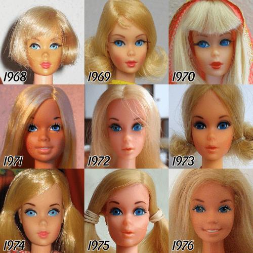 Barbie's Beauty Evolution