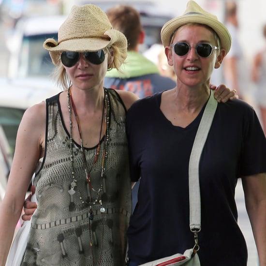 Ellen DeGeneres and Portia de Rossi in St. Barts 2015