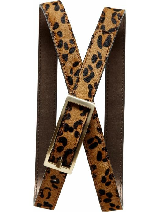 A leopard print belt can inject a sassy touch to just about any ensemble. We'd wrap it around a printed dress to touch of Fall's mixed print look.  Mad Men Leopard Print Belt ($50)