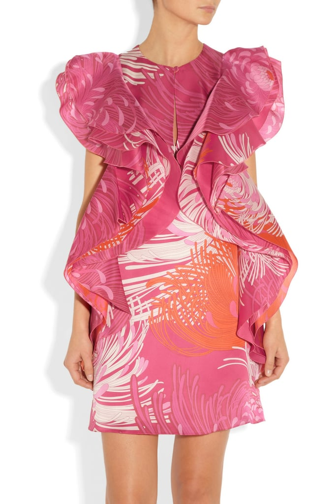 For the lady who loves to stand out: Gucci's ruffled, tropical-print pick ($2,990) is sure to garner the attention of at least one groomsman.