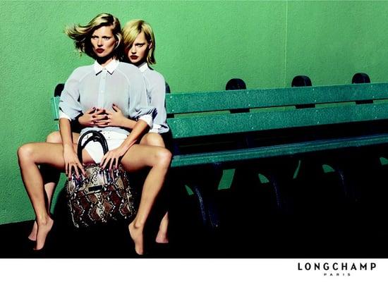 Kate Moss and Sasha Pivovarova Pair Up for Longchamp Spring 2009