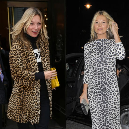 Kate Moss in Leopard Print Two Ways