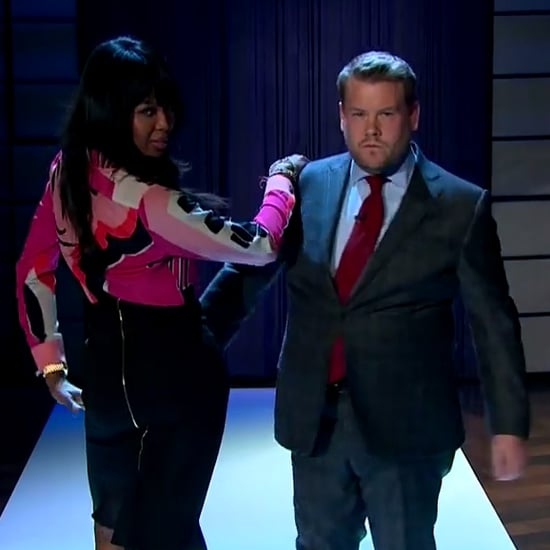 Naomi Campbell and James Corden Walk the Runway | Video