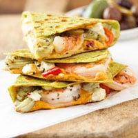 Easy Quick Warm Weather Dinner:  Shrimp Quesadillas