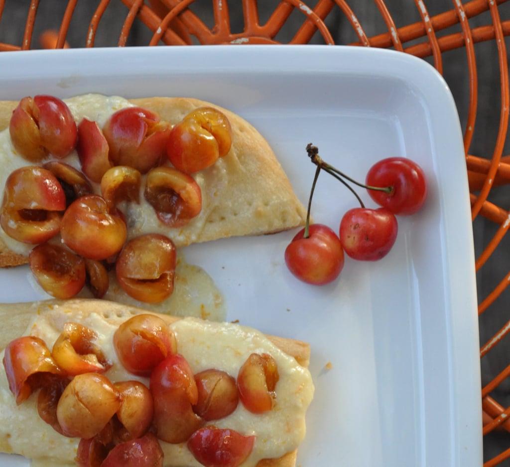 Ricotta and Cherry Focaccia Pizza