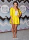 Lea Michele wore a yellow suit.