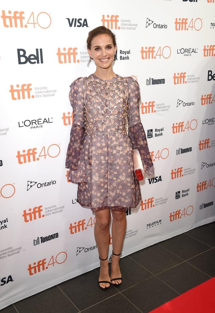 Natalie Portman in Dior Haute Couture at the 2015 Toronto Film Festival.
