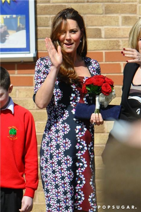 Kate Middleton waved to the crowd.