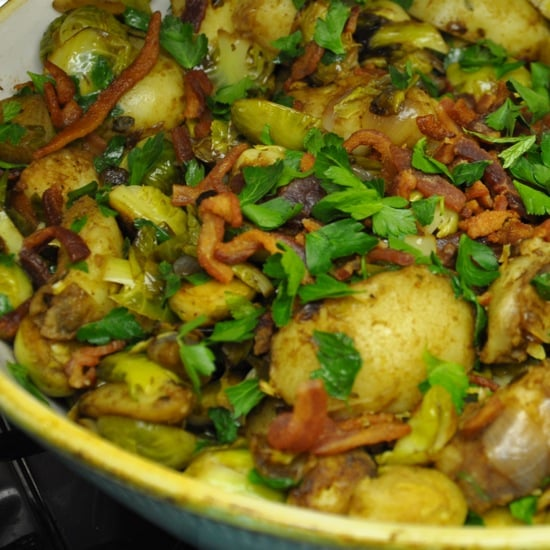 Brussels Sprouts and Bacon Hash