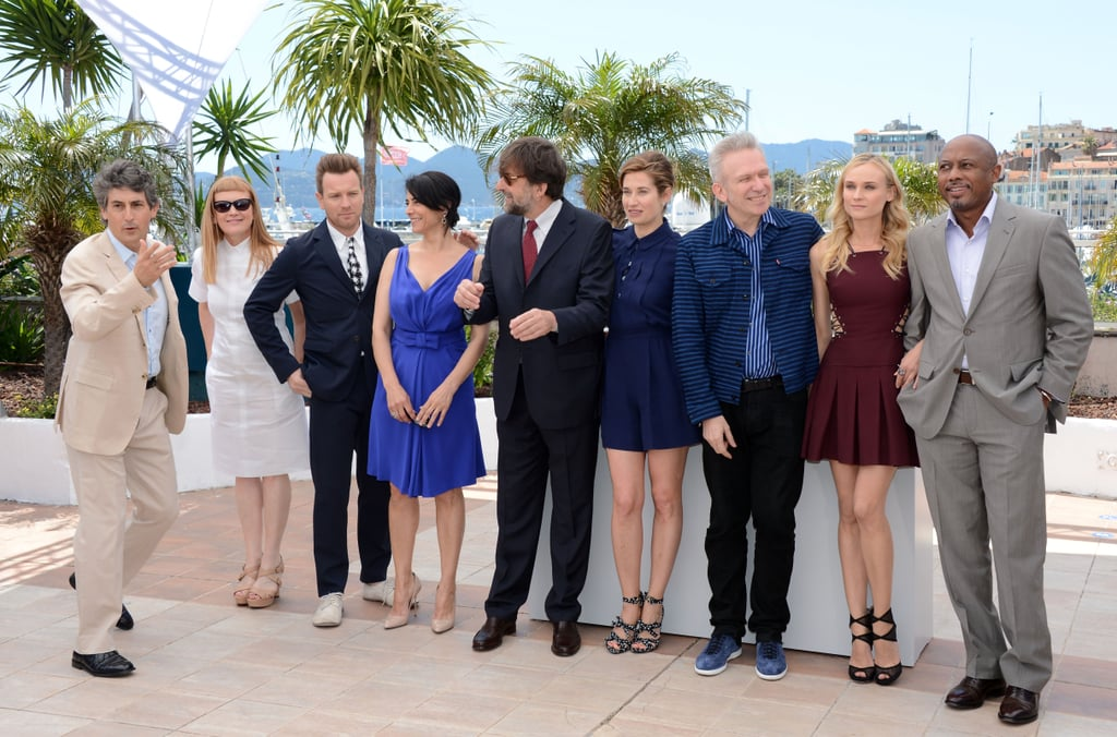Jury members Alexander Payne, Raoul Peck, Diane Kruger, Jean-Paul Gaultier, Emmanuelle Devos, Nanni Moretti, Hiam Abbass, Ewan McGregor, and Andrea Arnold had fun together for the jury photo call during the 65th Annual Cannes Film Festival.