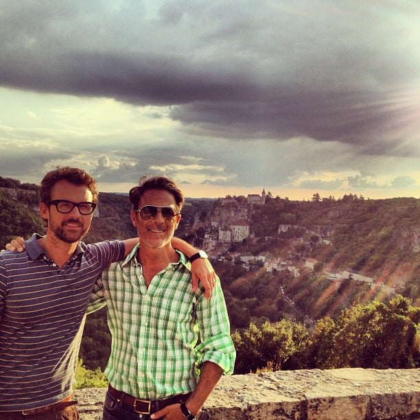 Brad Goreski and boyfriend Gary Janetti posed in front of a gorgeous sunset while on vacation. Source: Instagram user mrbradgoreski