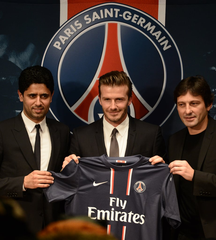 David Beckham announced that he will join Paris St. Germain during a press conference in Paris.