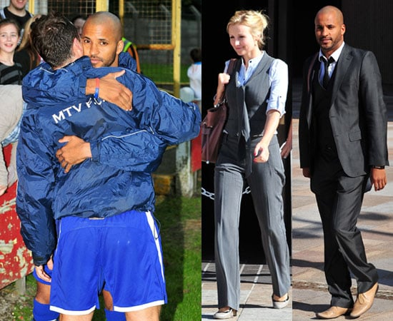 Pictures of Ricky Whittle With Girlfriend Carly Stenson Leaving Court Cleared of Dangerous Driving, Playing Charity Football