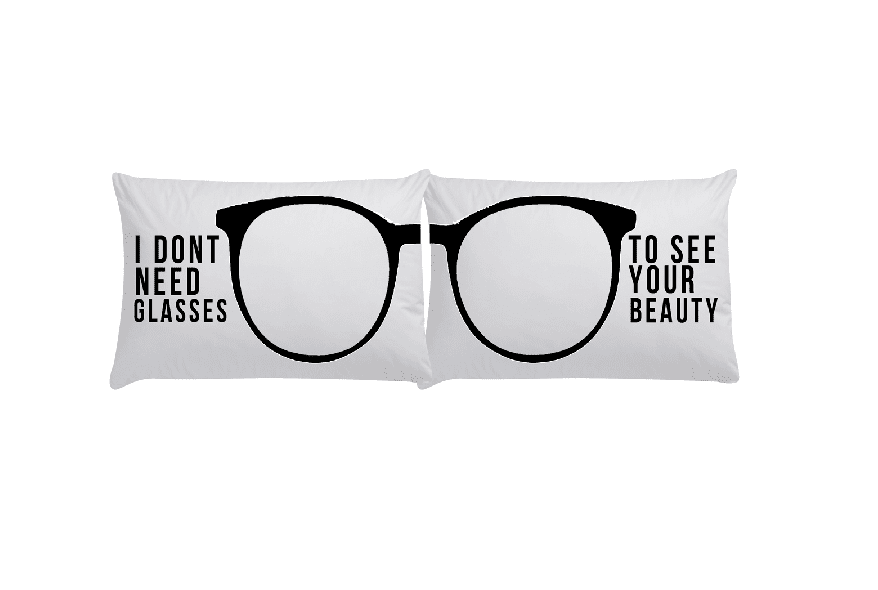 If you live with your love, this glasses pillow pair ($25) is such a cute idea.