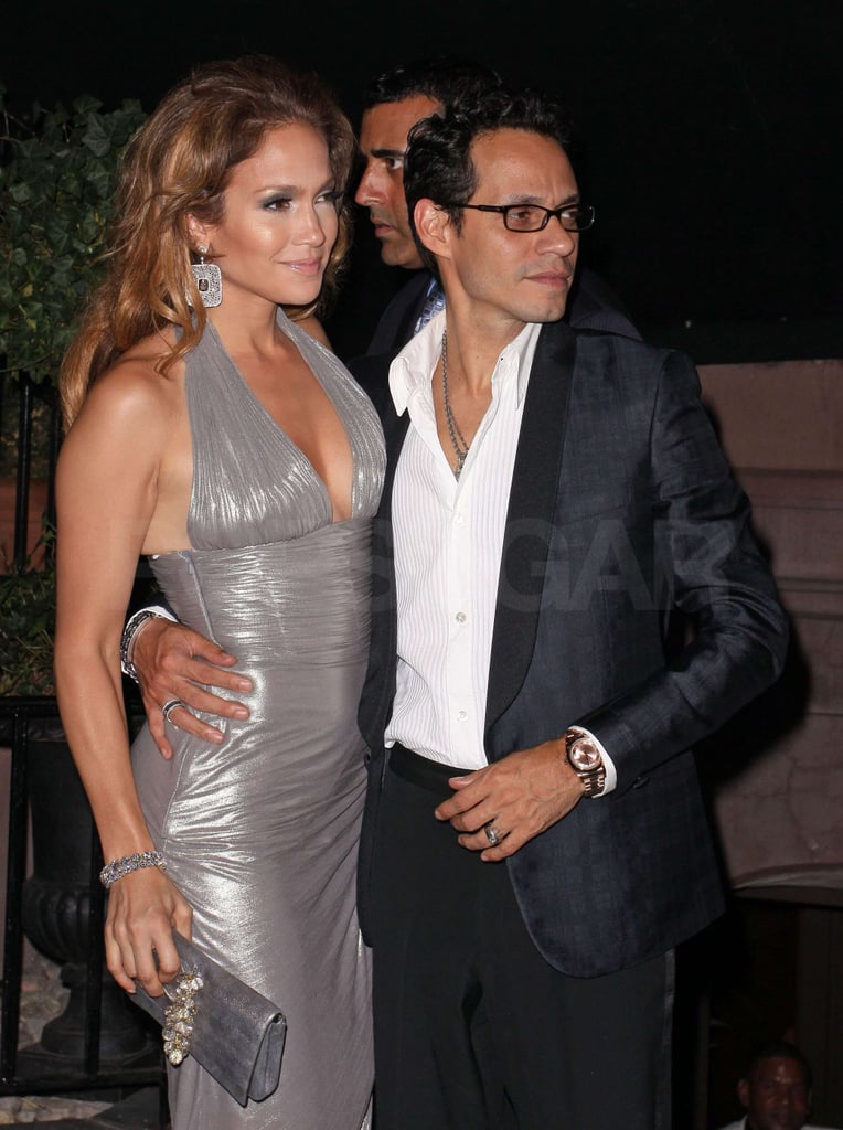 Photos of jennifer lopez in her birthday dresses for Marc anthony neck tattoo