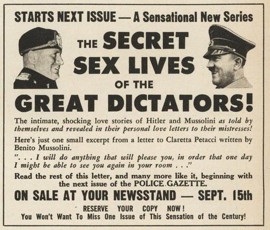 Flashback: The Secret Sex Lives of Dictators
