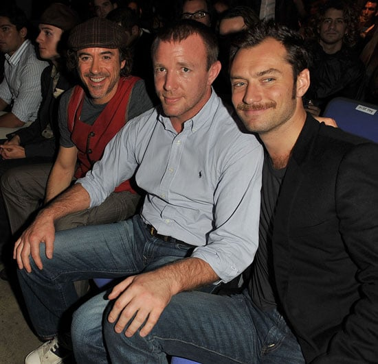 Pictures of Jude Law, Robert Downey Jr and Guy Ritchie Having a Sherlock Holmes Reunion at UFC in London
