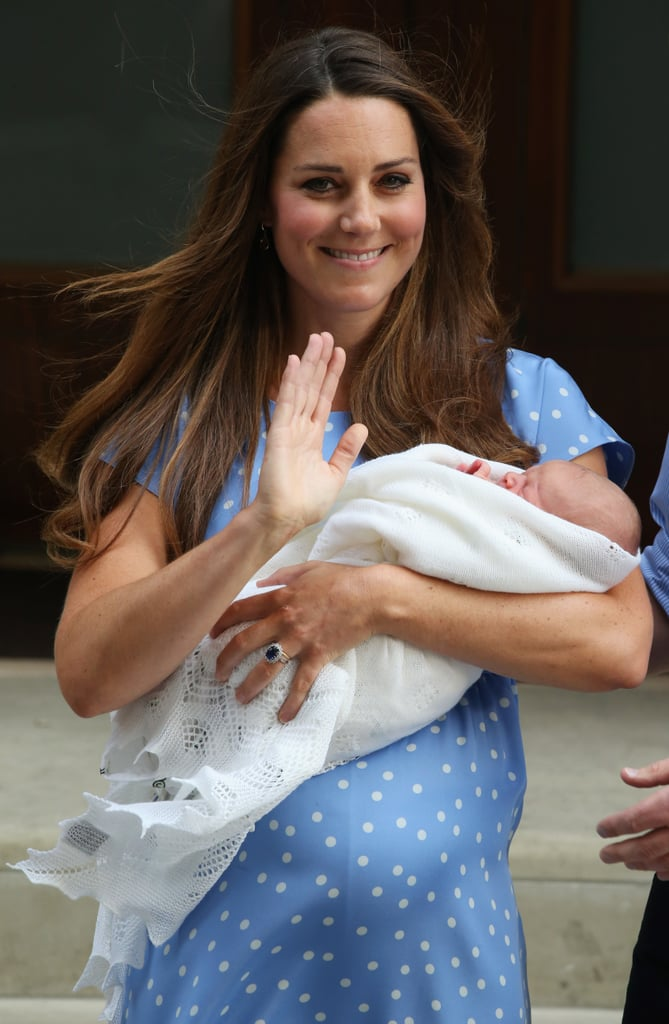 Kate Middleton waved and smiled at the cameras when she left the hospital with her newborn son.