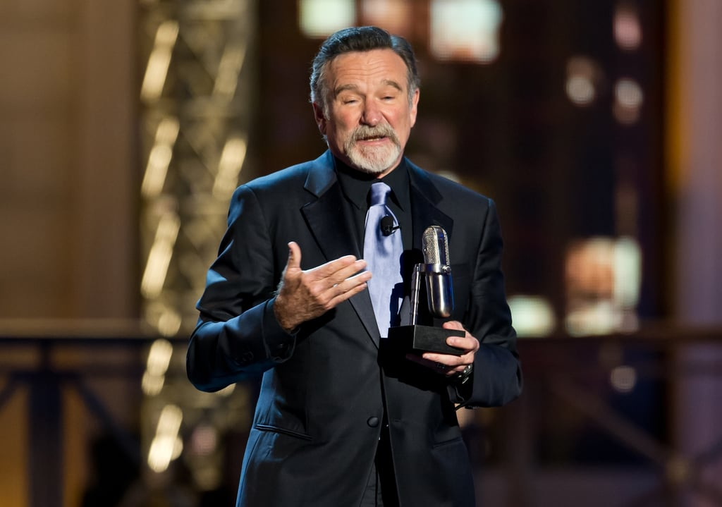 Robin moved the crowd while accepting the icon award at the Comedy Awards in NYC in April 2012.