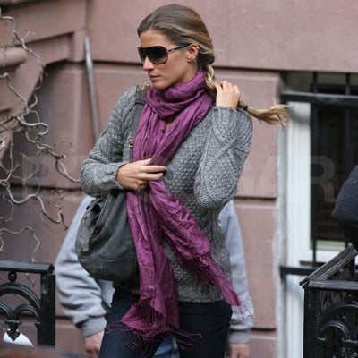 Gisele Bundchen Outside Her NYC Home