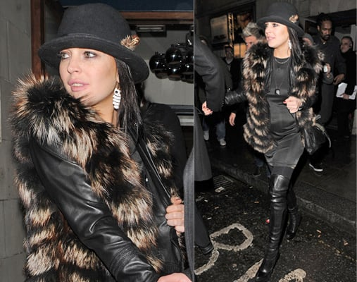 Photos of Lindsay Lohan in Thigh High Boots in Notting Hill