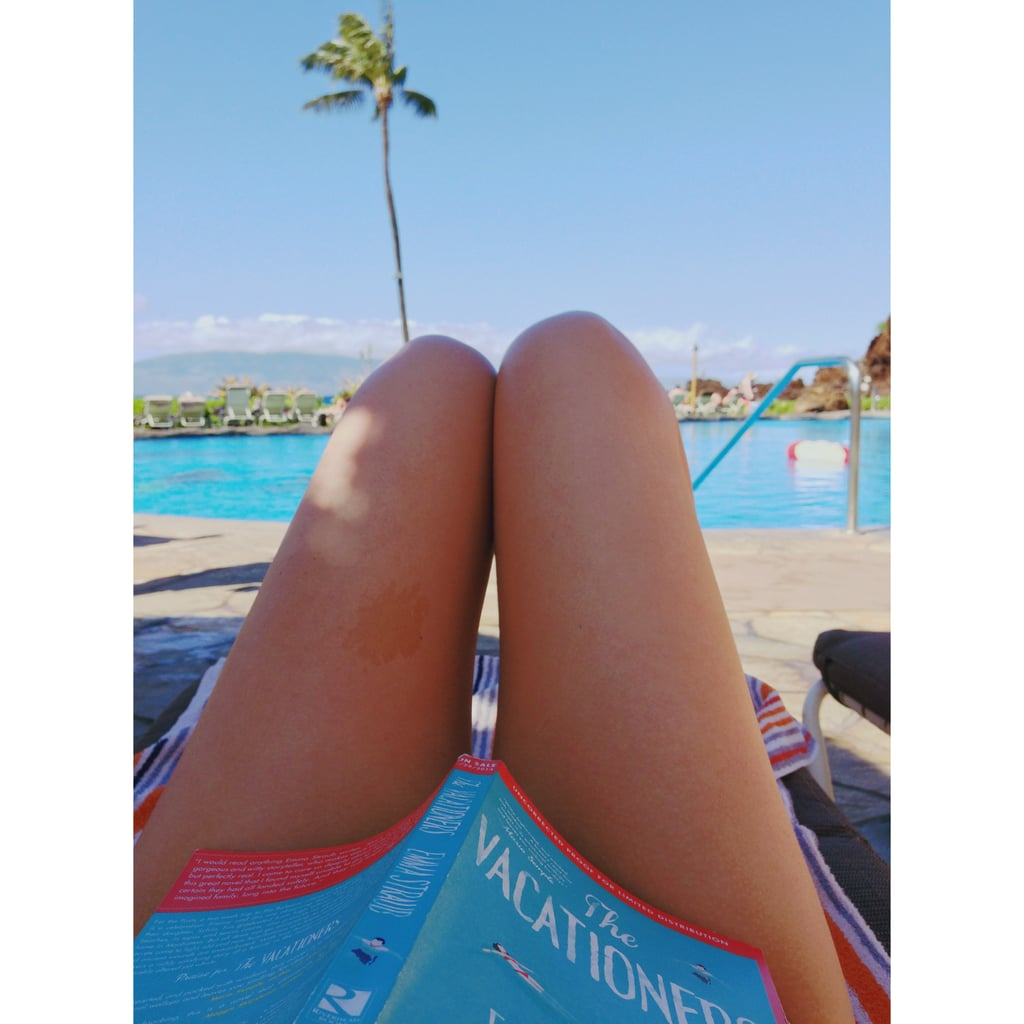 You spend a majority of your vacation time reading, and that includes your honeymoon.